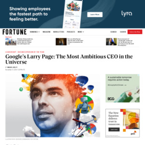 Google's Larry Page: The most ambitious CEO in the universe